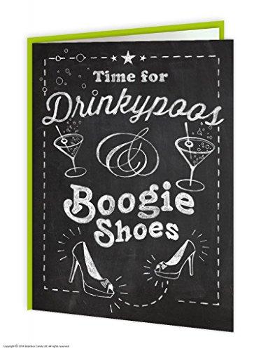"Drinkypoos & Boogie scarpe Biglietto d'auguri ""Birthday"