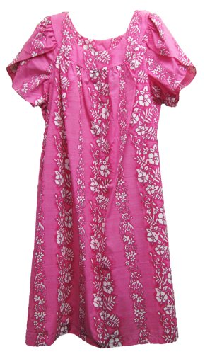 Rjc Womens Turtle Gardenia Lei Tea Length Muumuu Dress Pink 1X Plus