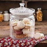 The Pioneer Woman Adeline Glass Cookie Jar,Clear   Stunning Glass Cookie Jar - Clear