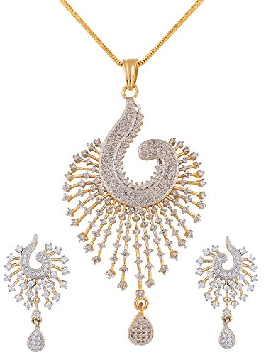 swasti-peacock-shaped-zircon-cz-fashion-jewelry-set-pendant-earrings-with-chain-35-inches