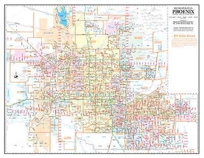 Zip Code Map Of Phoenix on