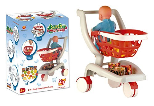 2-in-1-Deluxe-Supermarket-Shopping-Cart-with-Basket-Play-Food-Doll-Seat