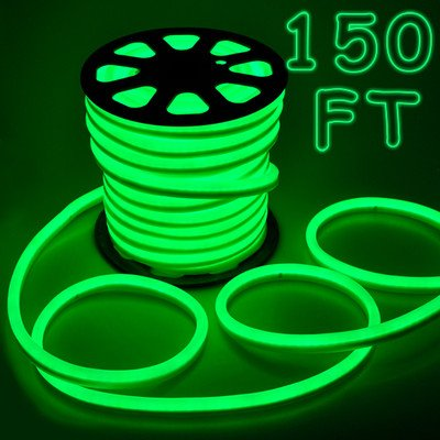 Led Neon Rope Light- 150Ft Green