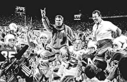 Royal Mack Canvas Print By Dave Hobrecht Featuring Darrell Royal and Mack Brown