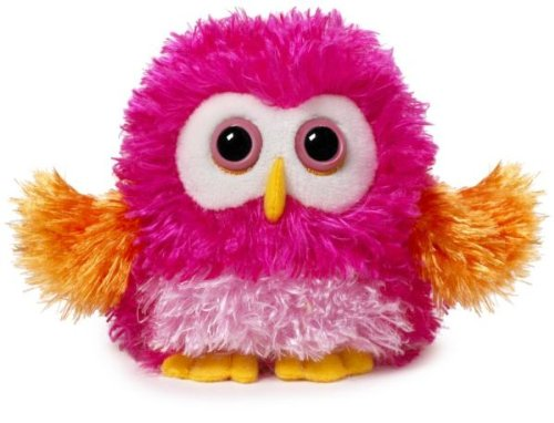 "Ganz 4.5"" Whoorah Hoots Plush Toy, Dark Pink"