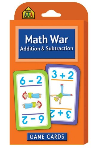 Math War Addition and Subtraction Game Cards