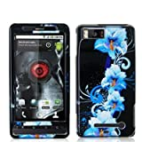 Blue Flowers Design Crystal Hard Skin Case Cover for For Motorola Droid X2  ....