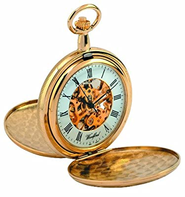 Woodford Pocket Watch 1038 Gold Plated Full Hunter