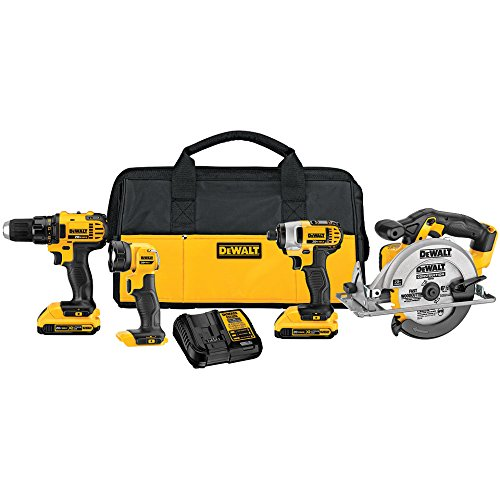 Purchase DEWALT DCK421D2 20V MAX Lithium-Ion 4-Tool Combo Kit, 2.0Ah