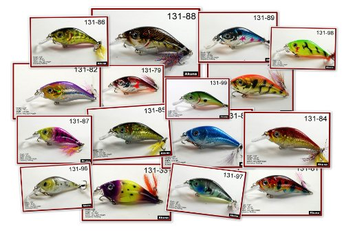 "Save Price Lot of 16 3.4"" Hand Painted Holographic Metallic Colors Bass Pike Trout Fishing Lures Crankbaits Tackles  Best Offer"