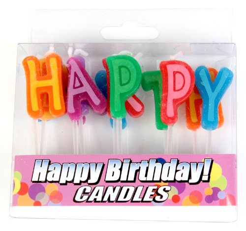 Good Living Birthday Letter Candles, 1-Pack - 1