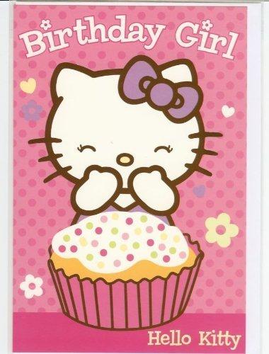 """Ciao Kitty: """"Buon Compleanno"""" cartolina di auguri"""