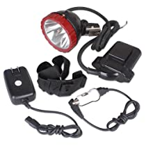 Kohree® Cree T6 LED Explosion Proof Mining Hunting Camping Headlight 10w with 2 Modes, 10W AC 85-265V