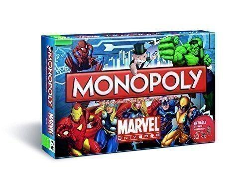 Monopoly Marvel Universe Edition Brettspiel – Deutsch – X-Men The Avengers Spiderman Hulk Ironman Die Fantastischen Vier