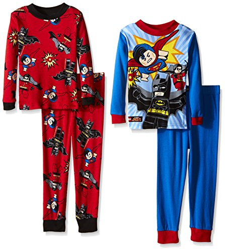 Batman Lego Little Boys' Lego Heroes 4-Piece Pajama Set at Gotham City Store