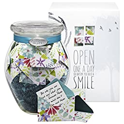 KindNotes INSPIRATIONAL Keepsake Gift Jar of Messages for Him or Her Birthday, Thank you, Anniversary, Just Because - Fresh Cut Floral