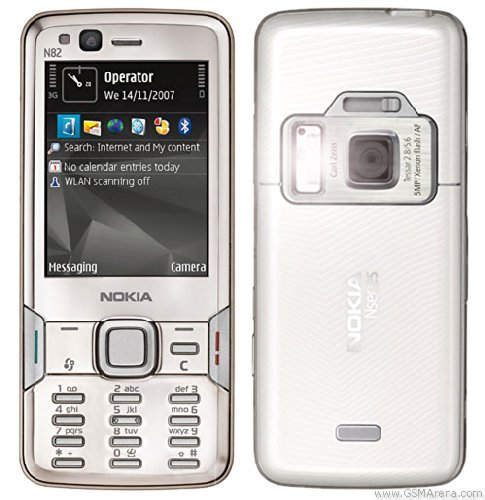 Unlocked Nokia N82 Bar Smart Mobile Phone 5 Million Pixel Fashion Student Mobile Phone (light gray)