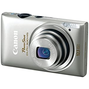 Canon PowerShot ELPH 300 HS 12.1 MP CMOS Digital Camera with Full 1080p HD Video (Silver) (Discontinued by Manufacturer)