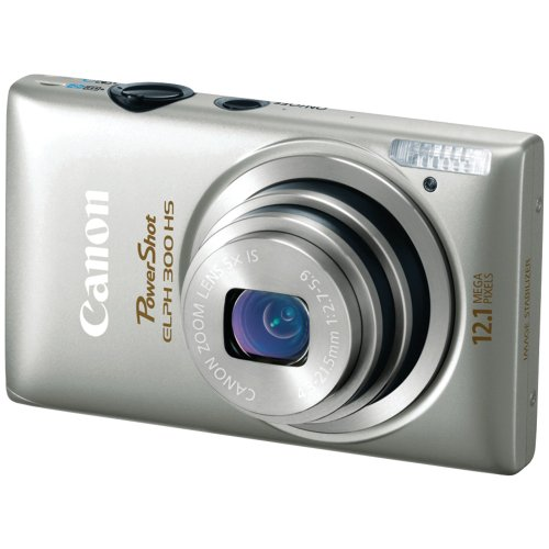 Black Friday Canon PowerShot ELPH 300 HS 12.1 MP CMOS Digital Camera with Full 1080p HD Video (Silver) Deals