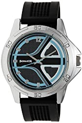 Sonata Analog Multi-color Dial Mens Watch - 77001SP01A