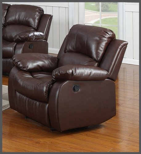 Huntington 3-pc Bonded Leather Sofa & Loveseat & Chair Set with 5 Recliners