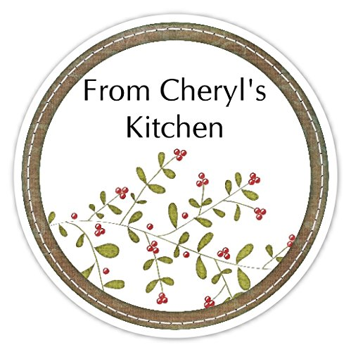 36 Kitchen Labels, Holly Sprig From My Kitchen stickers, Homemade Kitchen Stickers (Personalized Canning Labels compare prices)