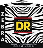 DR Handmade Strings ZEH-9 DR Zebra Phosphor Bronze Acoustic Electric Lite N Heavy 9-46