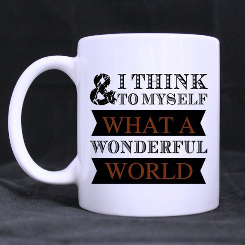 Fashion What A Wonderful World Stainless Steel Travel Tea Mug/Tea Cup - 14 Oz (One Direction Lyric Mug compare prices)