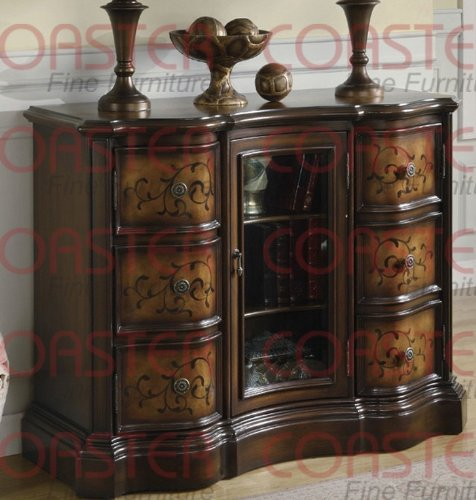 Coaster Home Furnishings Traditional Accent Cabinet, Brass front-74254