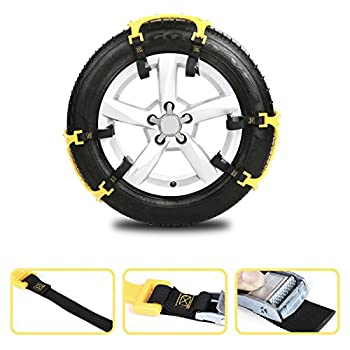 Anti Snow Chains of Car ,SUV Chain Tire Emergency Thickening Anti--Skid Chain -Set of 6
