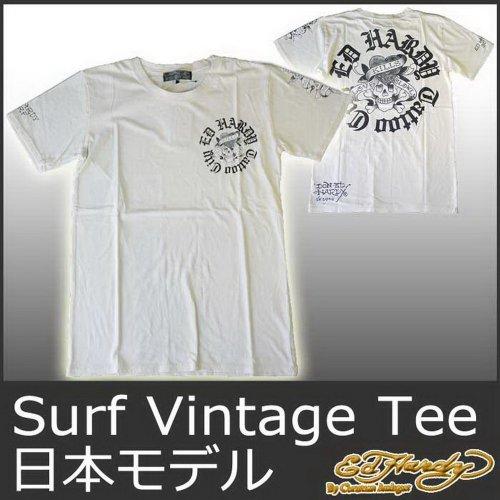 (エド・ハーディー)ED HARDY JAPAN 半袖T サーフ ラブキルスローリー/アイボリー EDHARDY エドハーディー 5252 -S ドン エド・ハーディー メンズ Tシャツ Ed Hardy MENS Surf Vintage Addicted LKS Tee M02SVA052