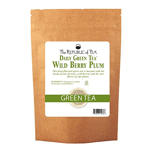 The Republic Of Tea Wild Berry Plum Green Tea, 250 Tea Bags