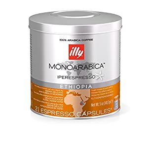 Illy Monoarabica Ethiopia Capsules (Pack of 1, Total 21 Capsules) from Illy