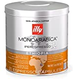 Illy Caffe Monoarabica Ethiopia Iperespresso Capsules, Light Brown, 5 Ounce