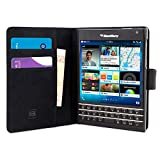 Blackberry Passport Hülle (Schwarz) - Flip Case mit