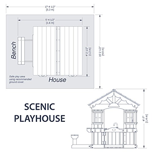 backyard discovery scenic all cedar wood playhouse toys games outdoor