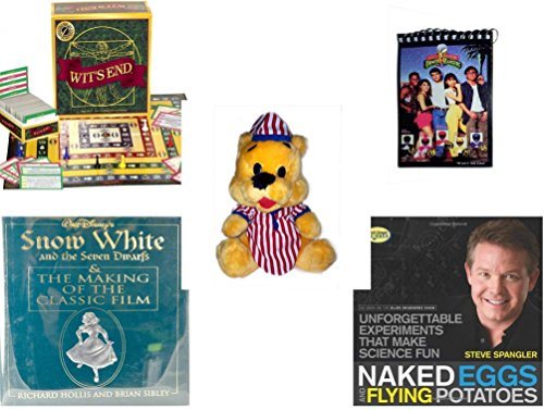 [Children's Gift Bundle - Ages 6-12 [5 Piece] - Wit's End Board Game - 1993 Mighty Morphin Power Rangers Notepad - Striped PJ's Nightime Bear Plush 11