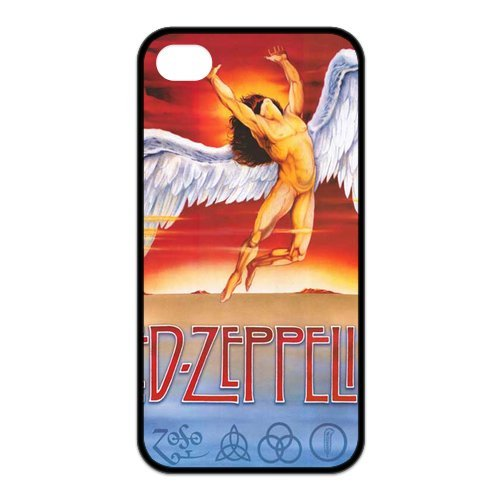 Istyle Zone Snap-On Tpu Rubber Coated Case Compatible With Iphone 4 / 4S Cover [Led-Zepplin]