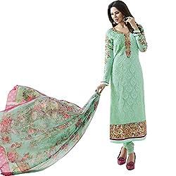 Vasu Saree Sea Green Georgette Straight Churidar Suit