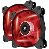 Corsair Air Series AF120 LED Quiet Edition High Airflow Fan Twin Pack - Red (CO-9050016-RLED)