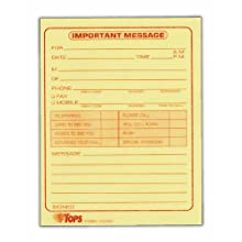 TOPS Message Pads, 4.25 x 5.5 Inch, 50 Sheets, 12-Pack, Canary (3002C)