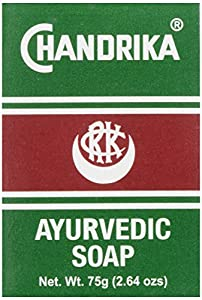 Chandrika Pains de savon ayurvédique Chandrika - Sans graisses animales - 75 g (Paquet de 10)