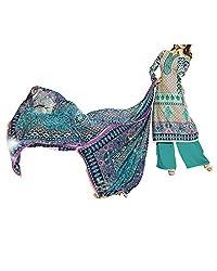 Admyrin Women Beige Cotton Salwar Kameez