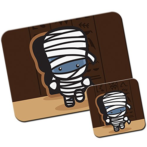 Kawaii Baby Monsters-Tappetino/Pad per Mouse e Set sottobicchiere Mummy In Pyramid Sarcophagus