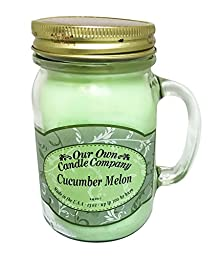 Cucumber Melon Scented 13 Ounce Mason Jar Candle By Our Own Candle Company