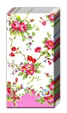 Pack of 10 Paper Pocket Tissues Bleach Summer Blossom rose