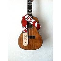 Handmade Instrument Strap (RED HIBISCUS)