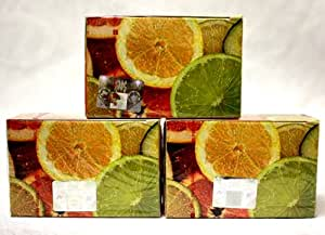 "150 gr Soex ""LIME-LEMON"" Herbal Hookah Shisha - 100% Natural Shisha Molasses Tobacco-Free for Hooka Huka Sheesha Nargila Narghile / Includes 3 x 50 gram boxes - 150 grams shisha total"