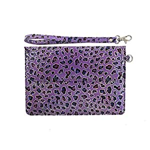 DooDa PU Leather Pouch Case Cover With Magnetic Closure & Video Viewing Stand For Lava E-Tab XTRON+