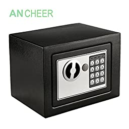 Ancheer Digital Safe Box Solid Steel Construction, Security Safe for Jewelry, Gun, Cash Valuable